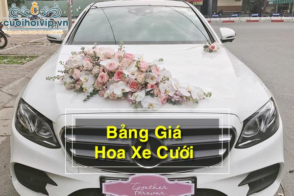 Bảng giá hoa xe cưới