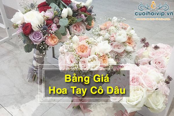 Bảng giá hoa tay cô dâu