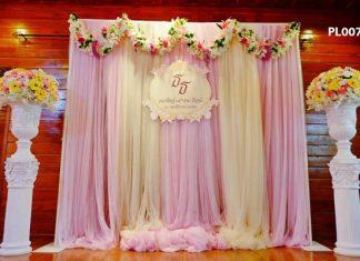 phông nền cưới lụa truyền thống