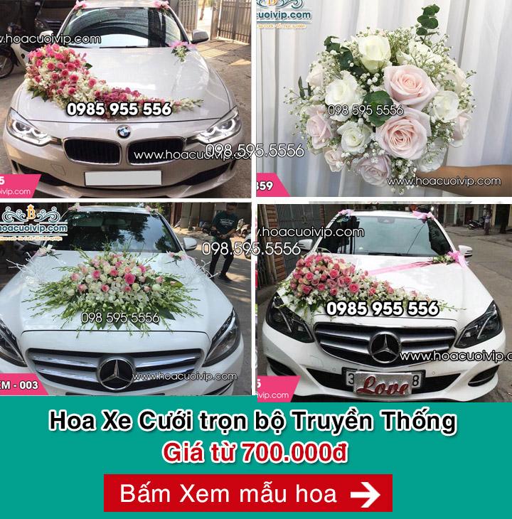 hoa xe cưới mẫu truyền thống