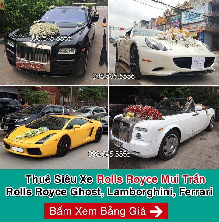 thuê xe cưới siêu xe rolls royce