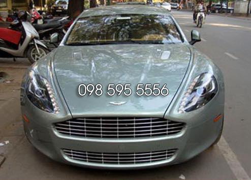 thuê xe cưới Aston Martin Rapide xanh ngọc