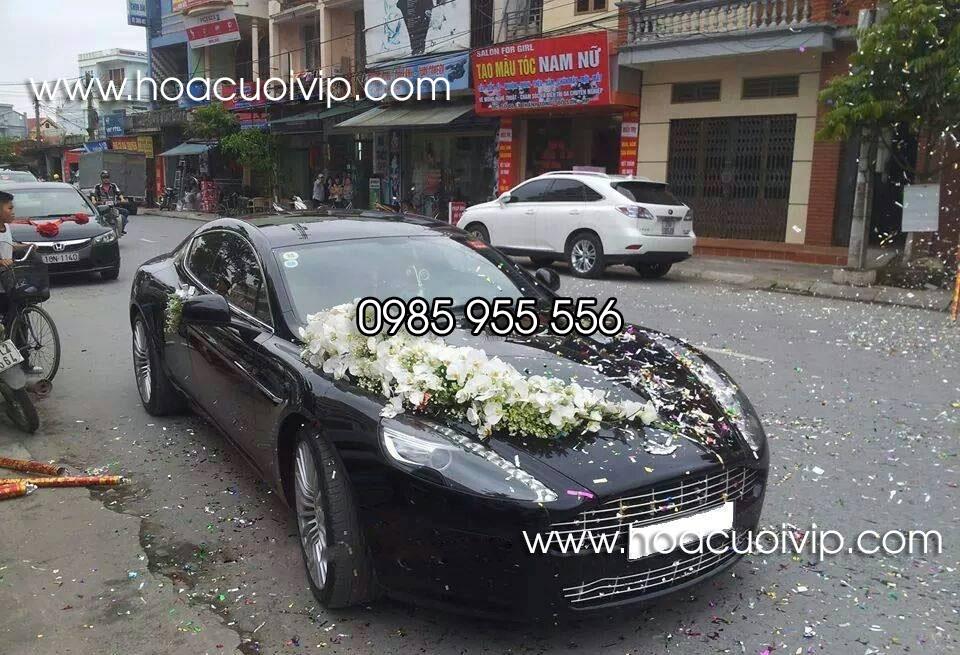 thuê xe cưới Aston Martin Rapide màu đen
