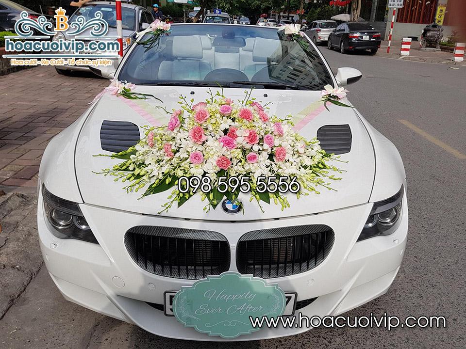 thuê xe cưới bmw m6 mui trần trắng