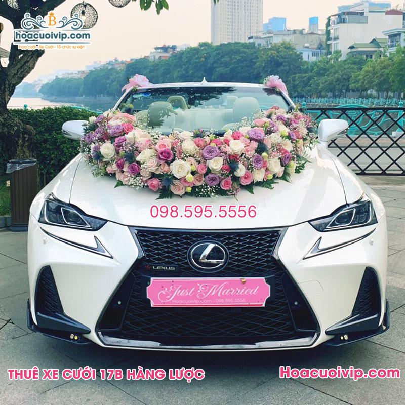 Thuê xe cưới Lexus RS250 mui trần trắng