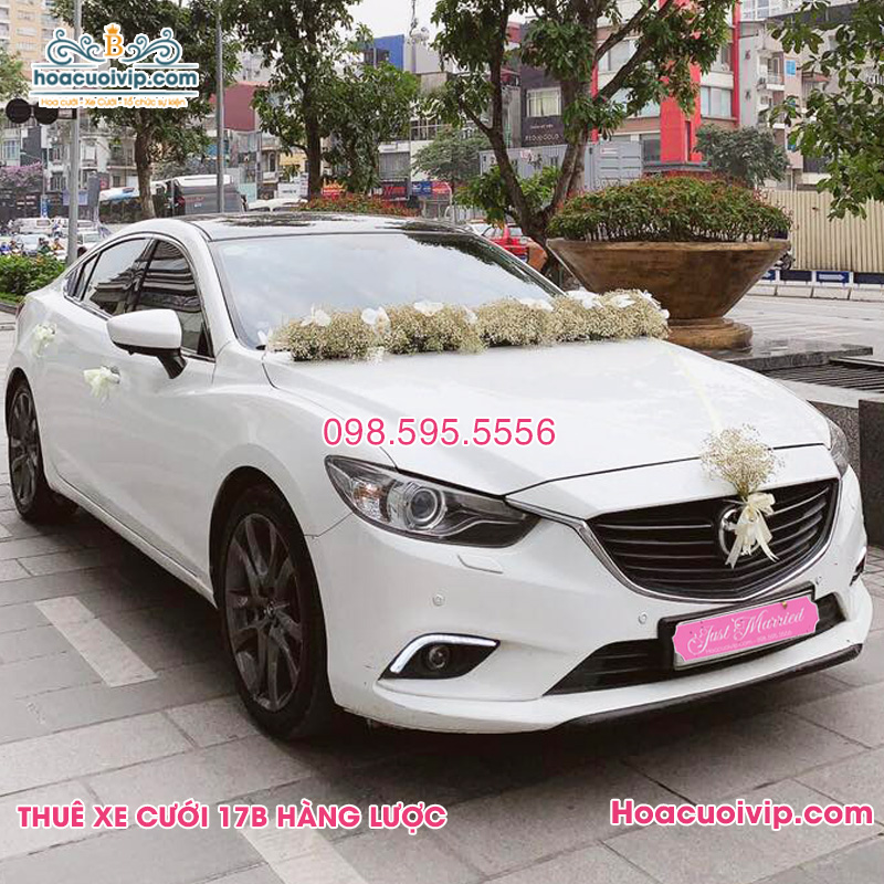 Thuê xe cưới Mazda 6 2018 màu trắng