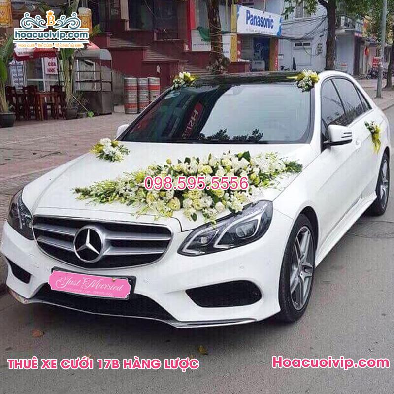 Thuê xe cưới mercedes E400 màu trắng