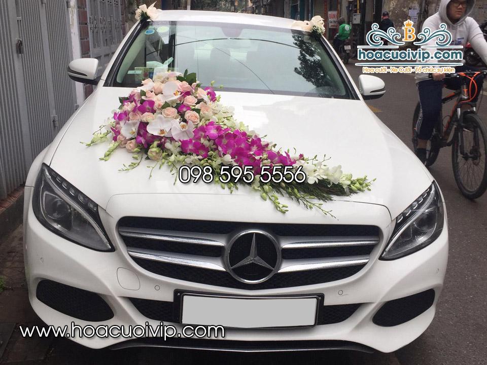thuê xe cưới mercedes C200 2017 màu trắng