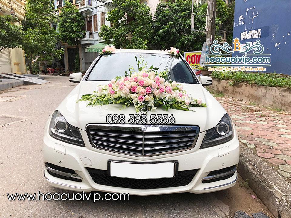 thuê xe cưới mercedes C300 2014 trắng