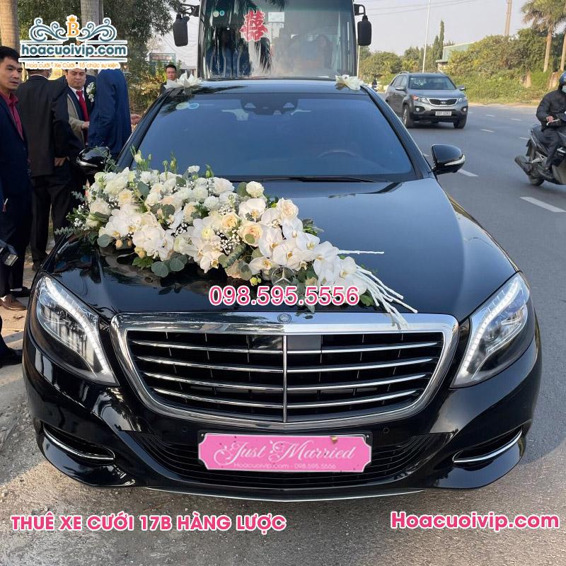 Thuê xe cưới mercedes S400 2018 màu đen